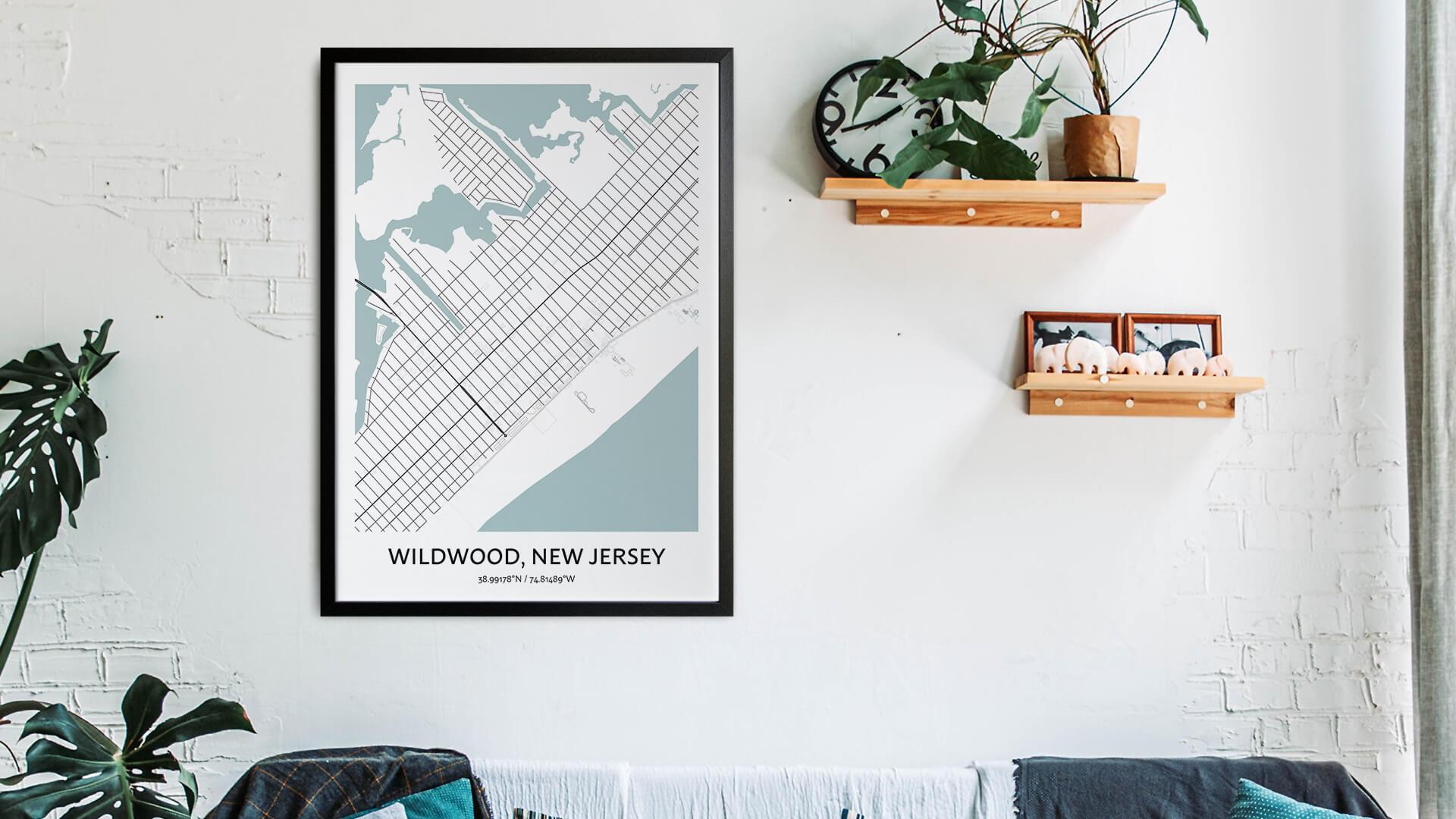 Wildwood map art
