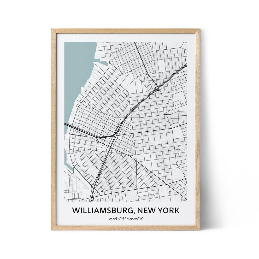 Williamsburg city map poster