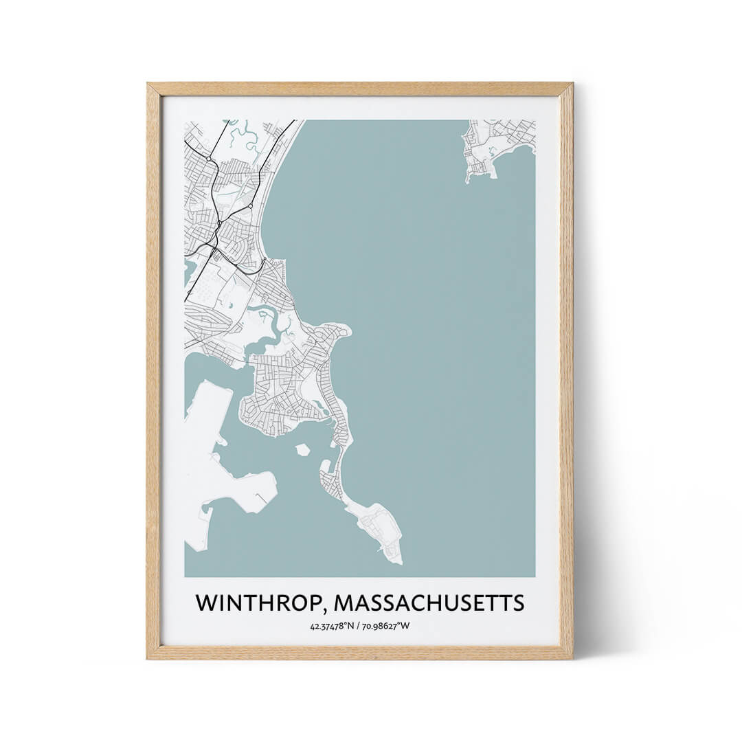 Winthrop city map poster