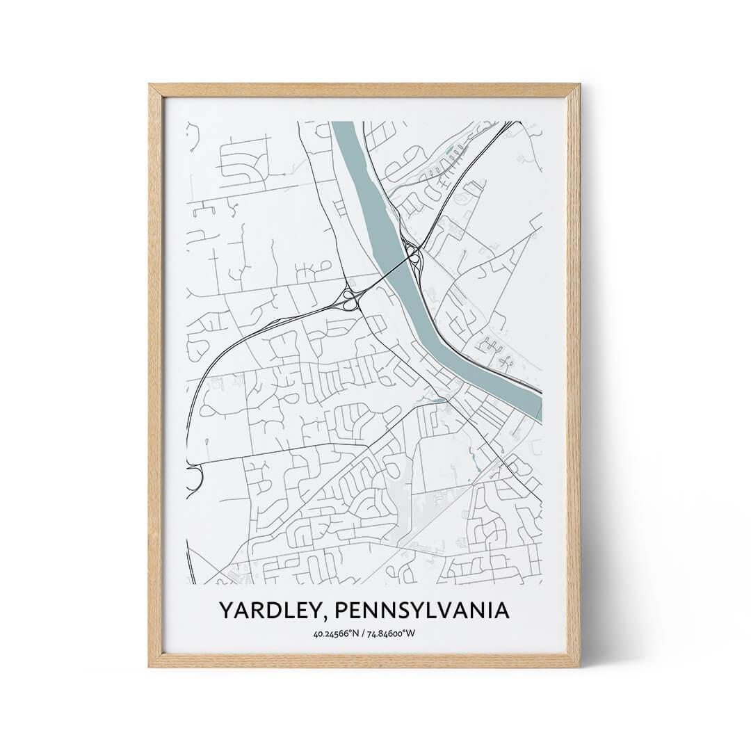 Yardley city map poster