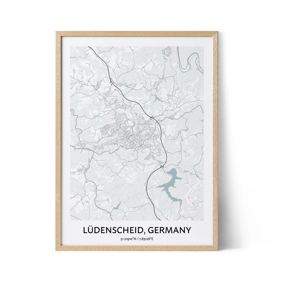 Ludenscheid city map poster