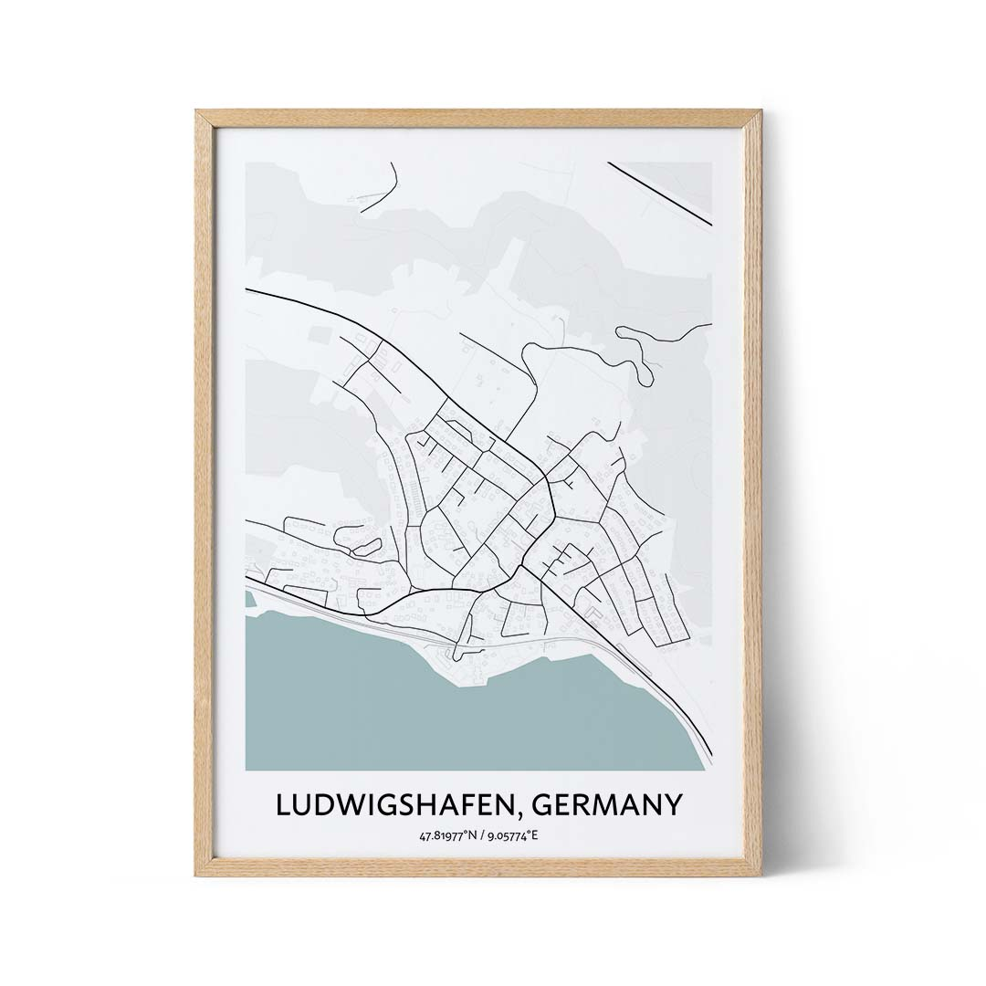 Ludwigshafen city map poster