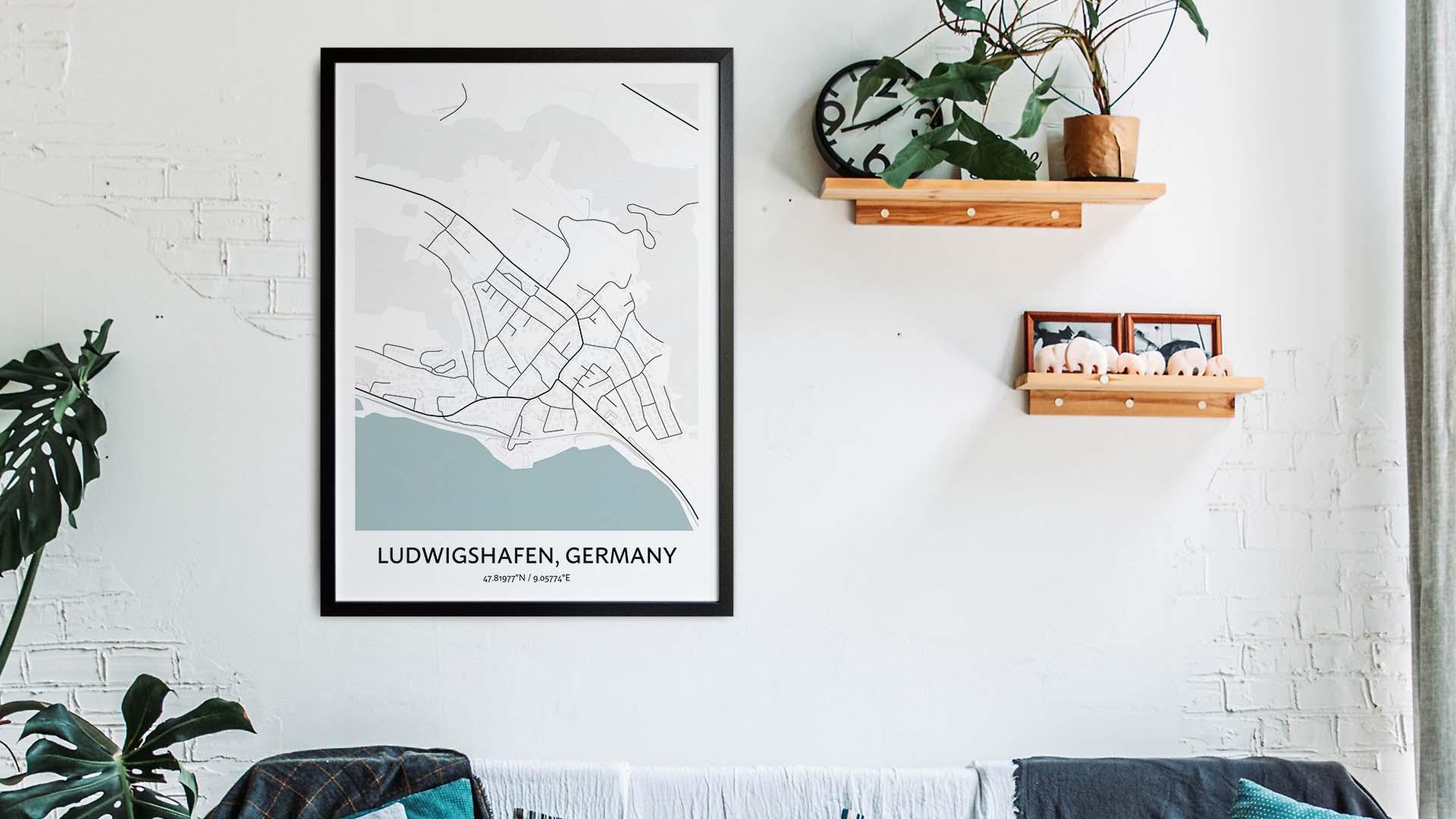 Ludwigshafen map art