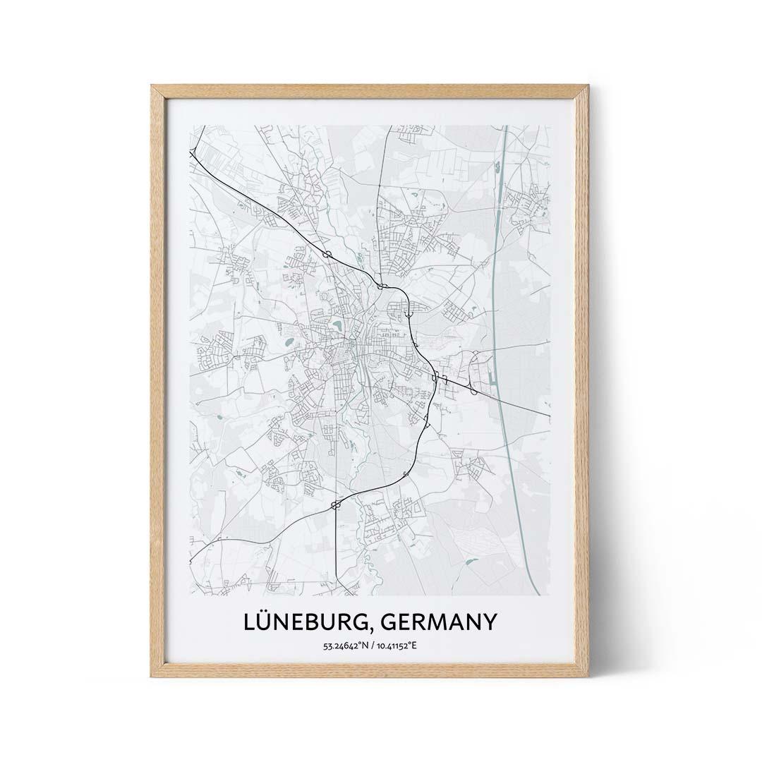 Luneburg city map poster