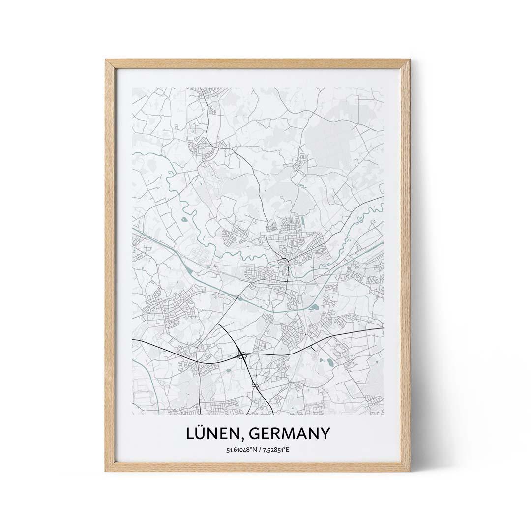 Lunen city map poster