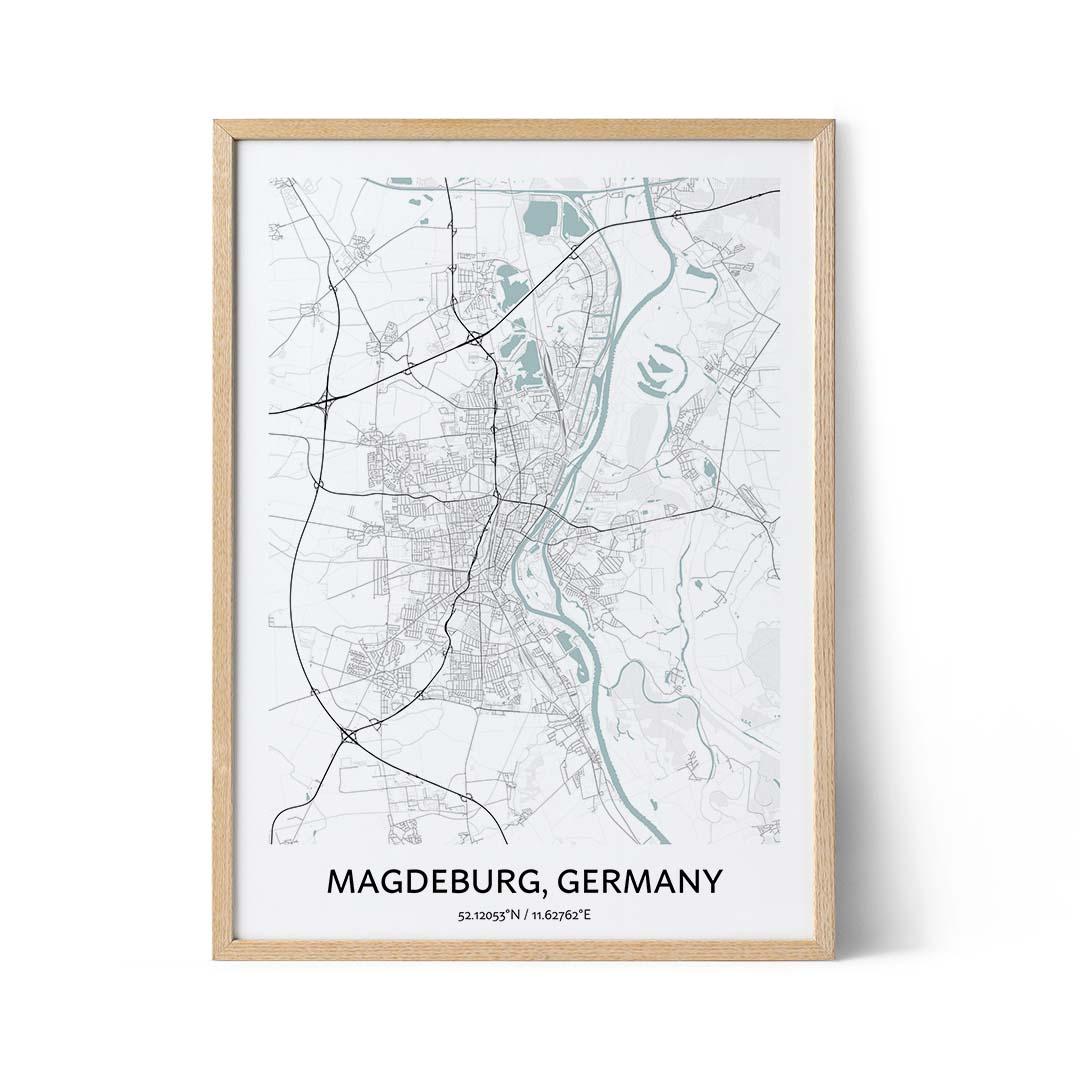 Magdeburg city map poster