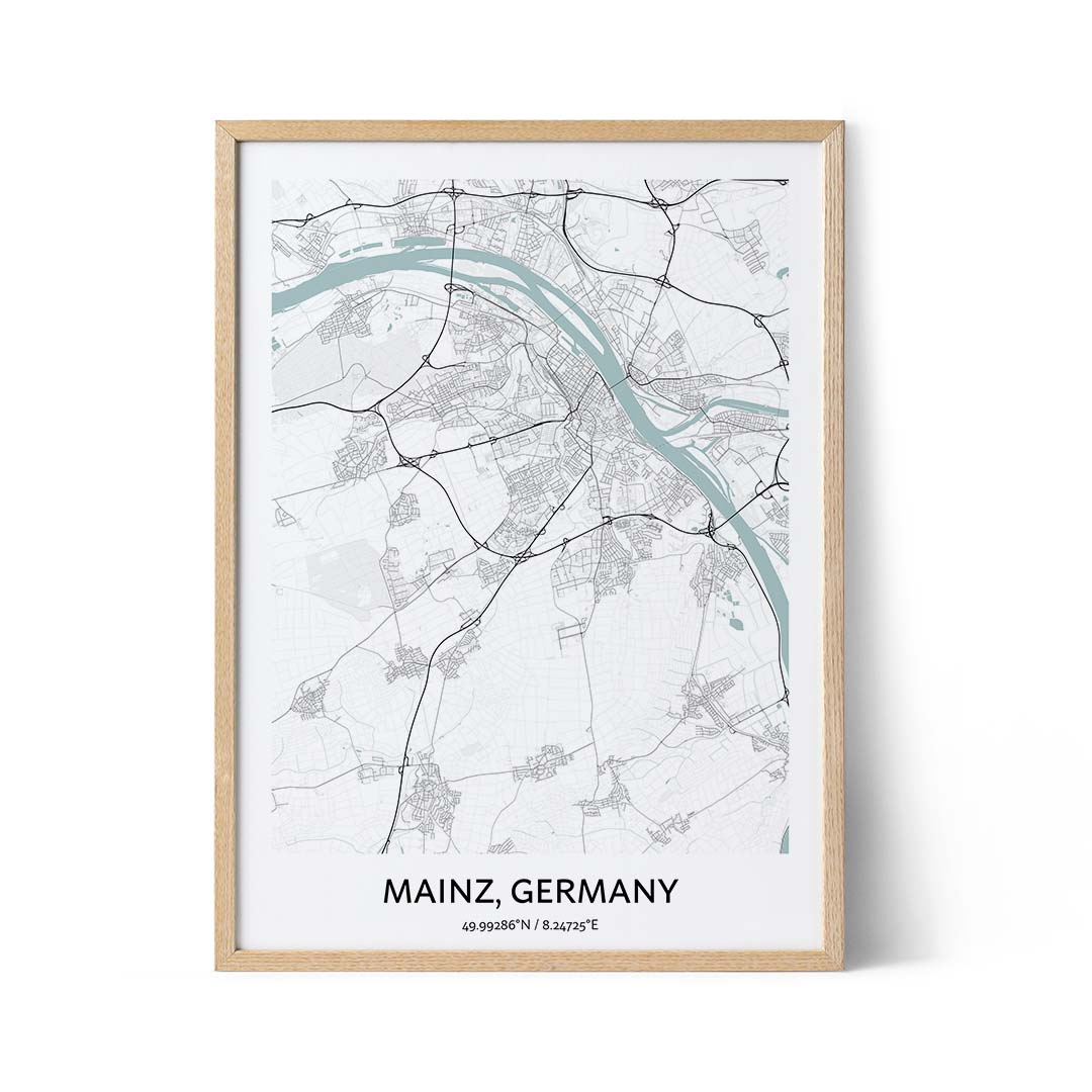 Mainz city map poster