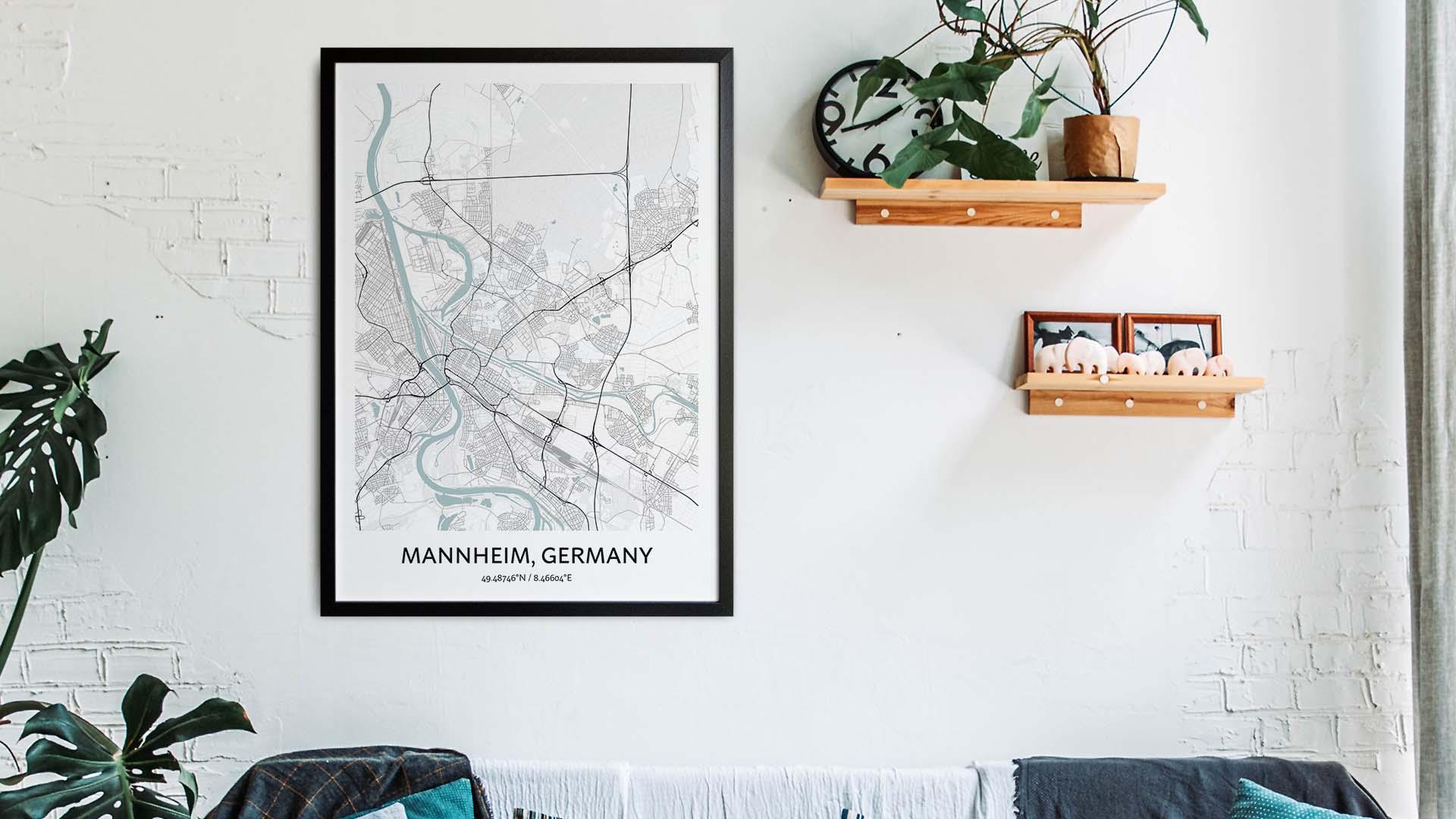 Mannheim map art