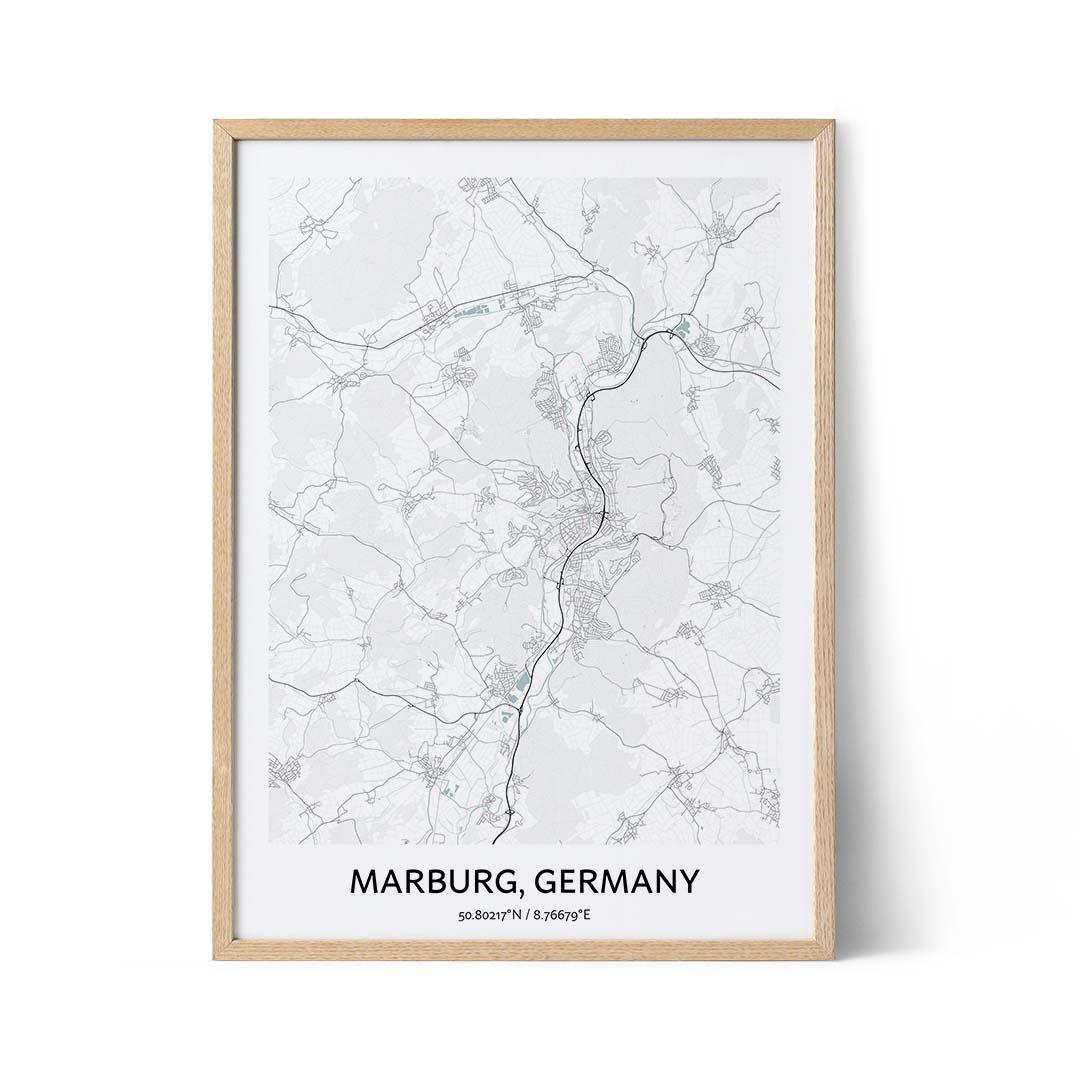 Marburg city map poster
