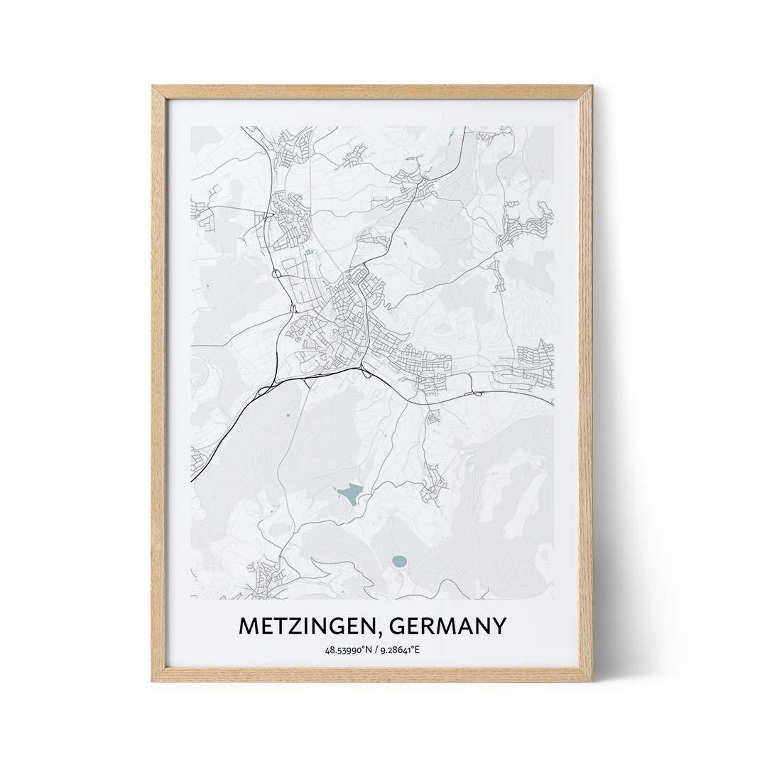 Metzingen city map poster