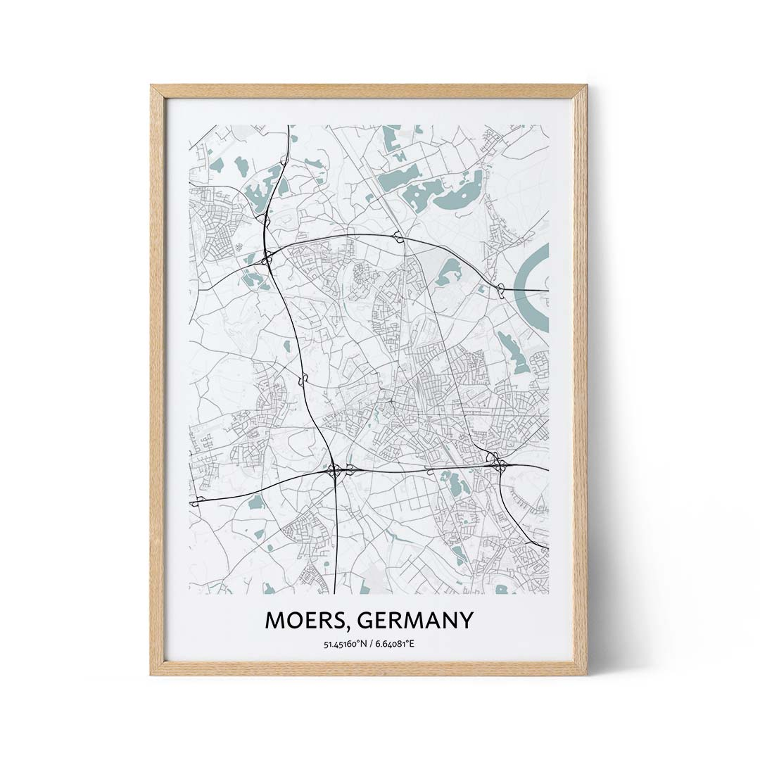 Moers city map poster