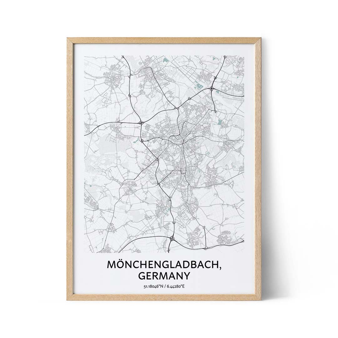Monchengladbach city map poster