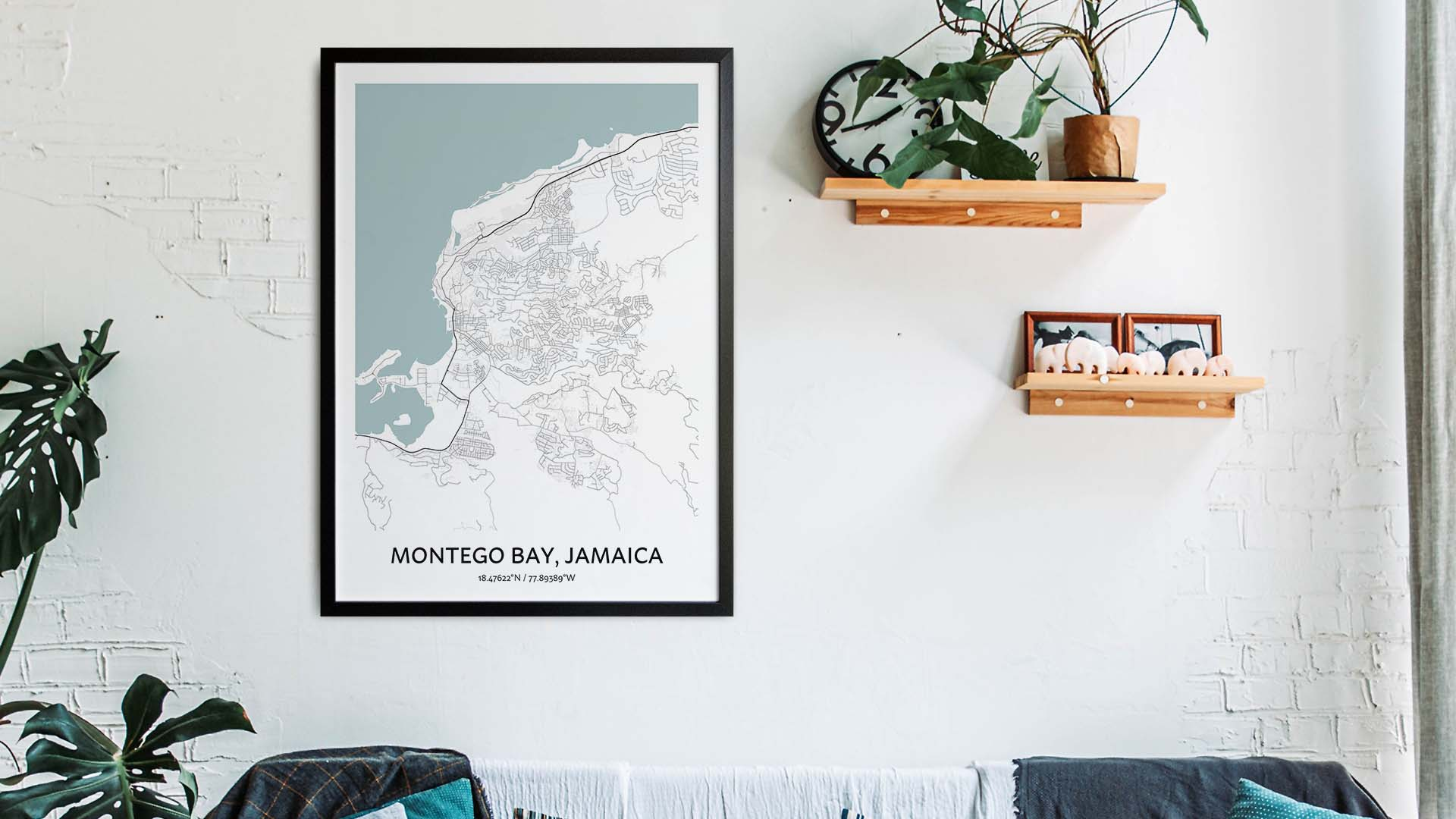 Montego Bay map art