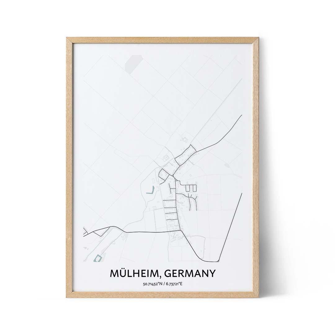Mulheim city map poster