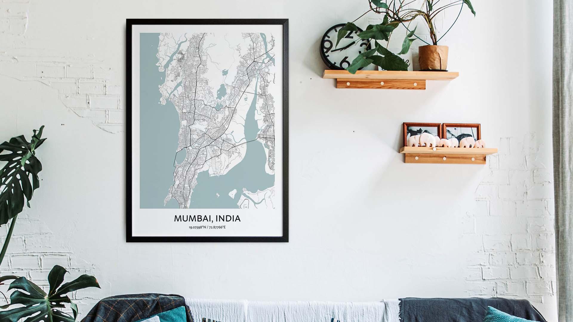Mumbai map art