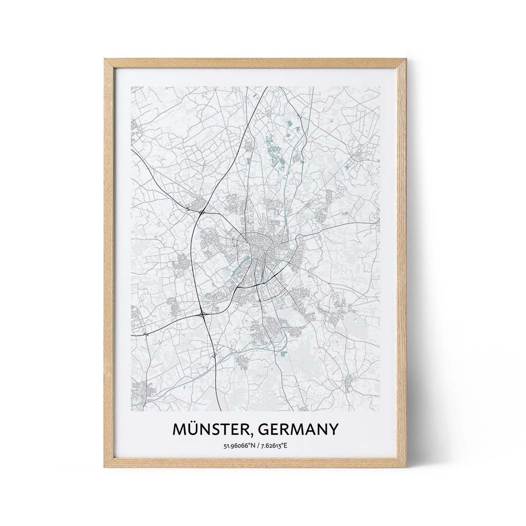 Munster city map poster