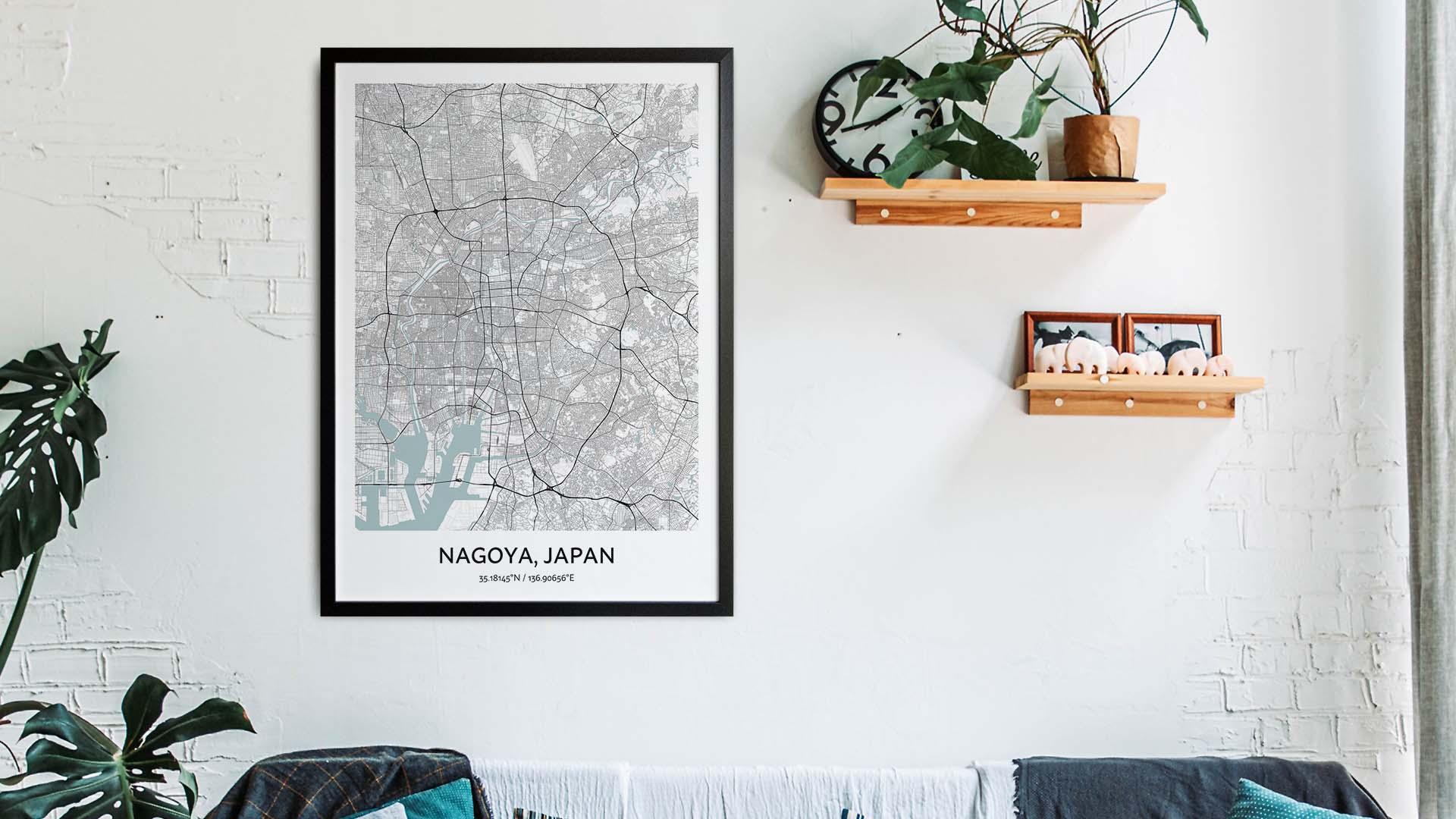 Nagoya map art