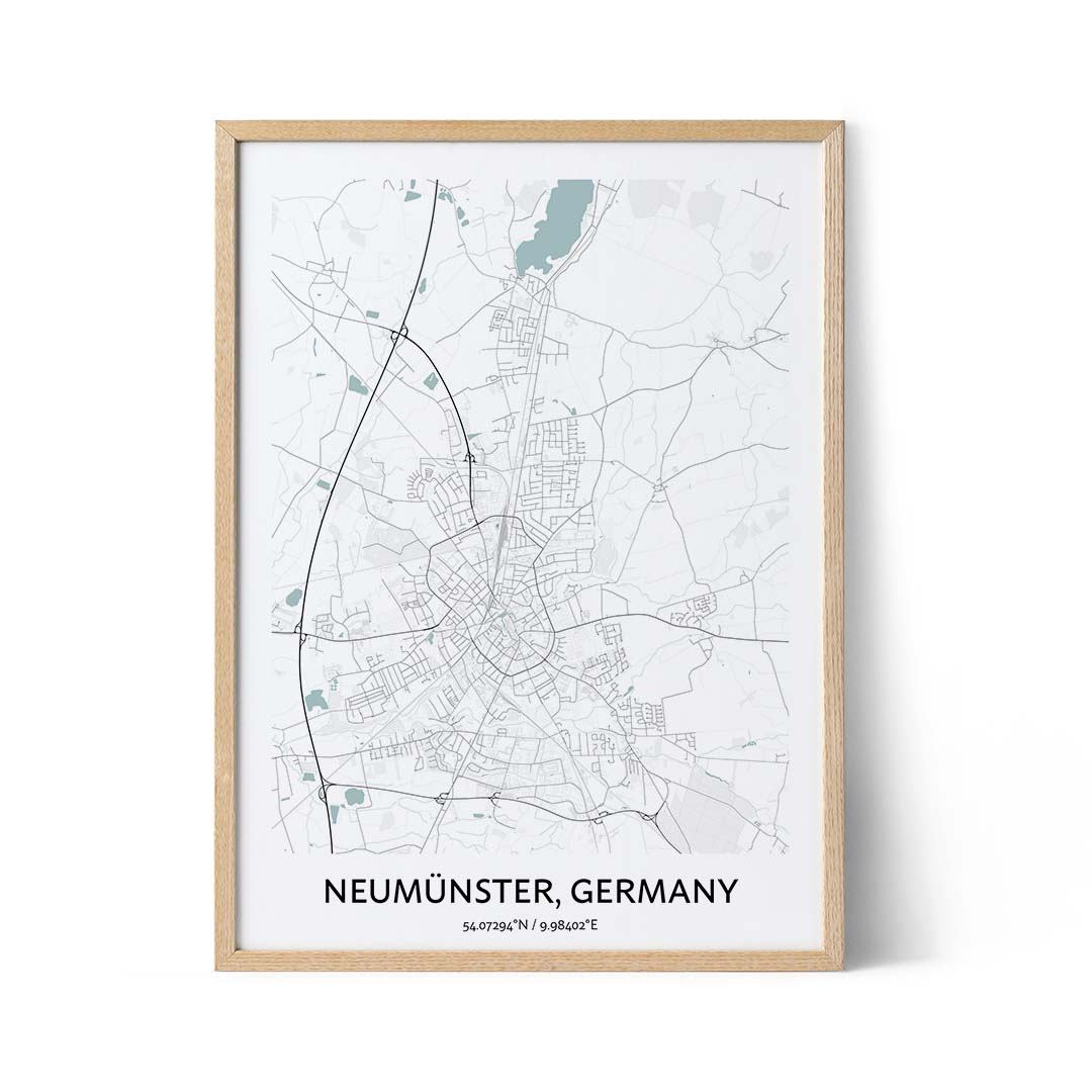 Neumunster city map poster