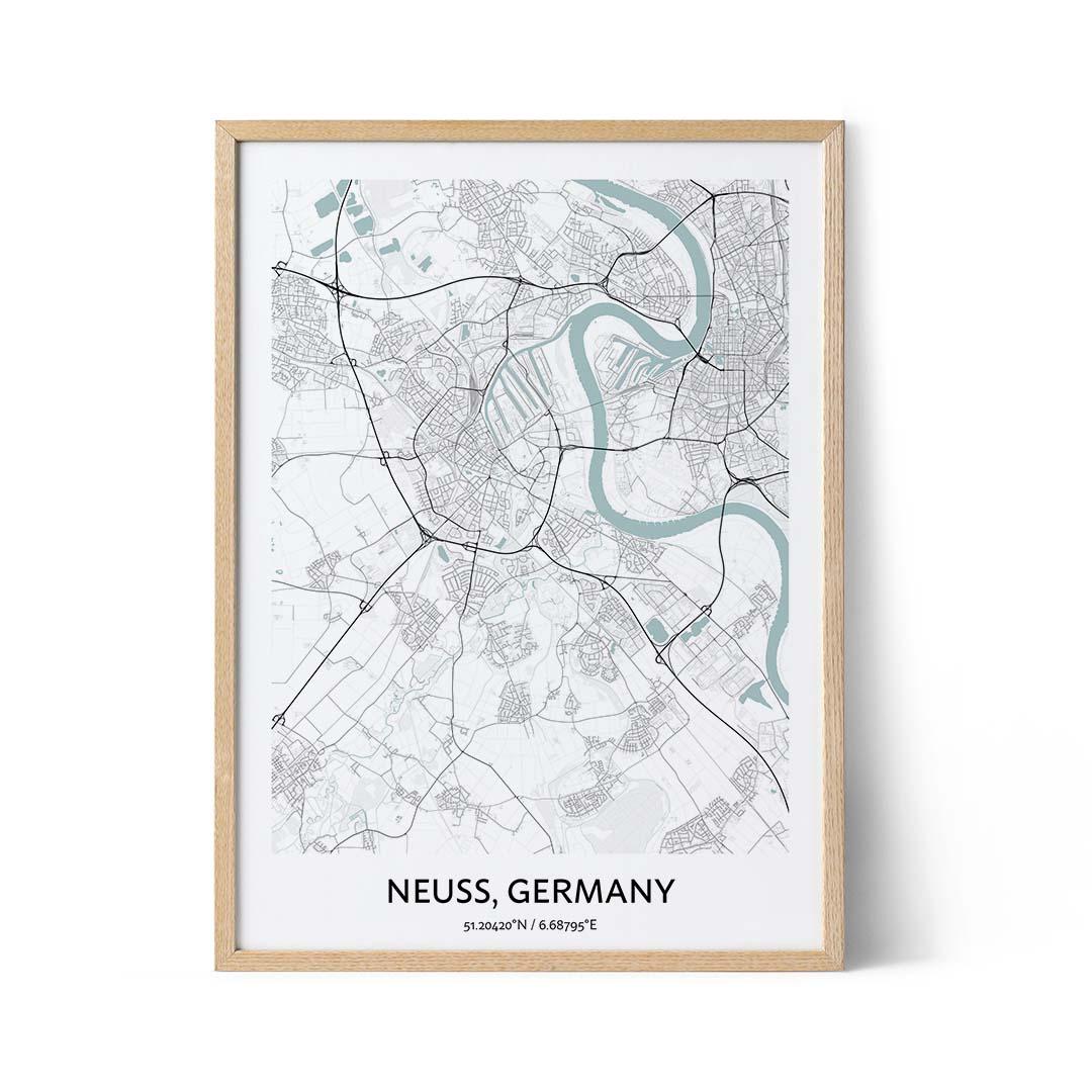 Neuss city map poster