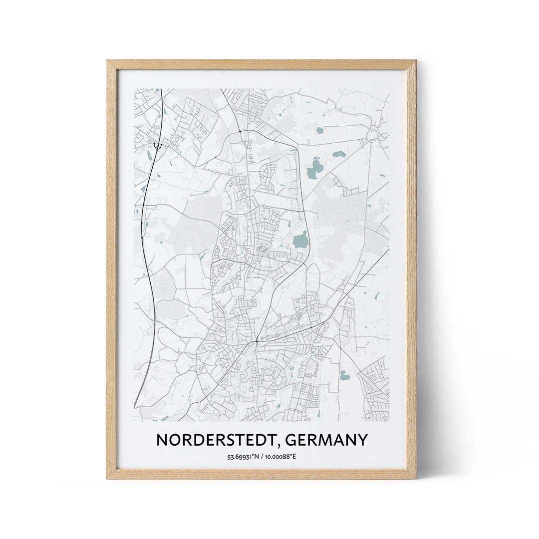 Norderstedt city map poster