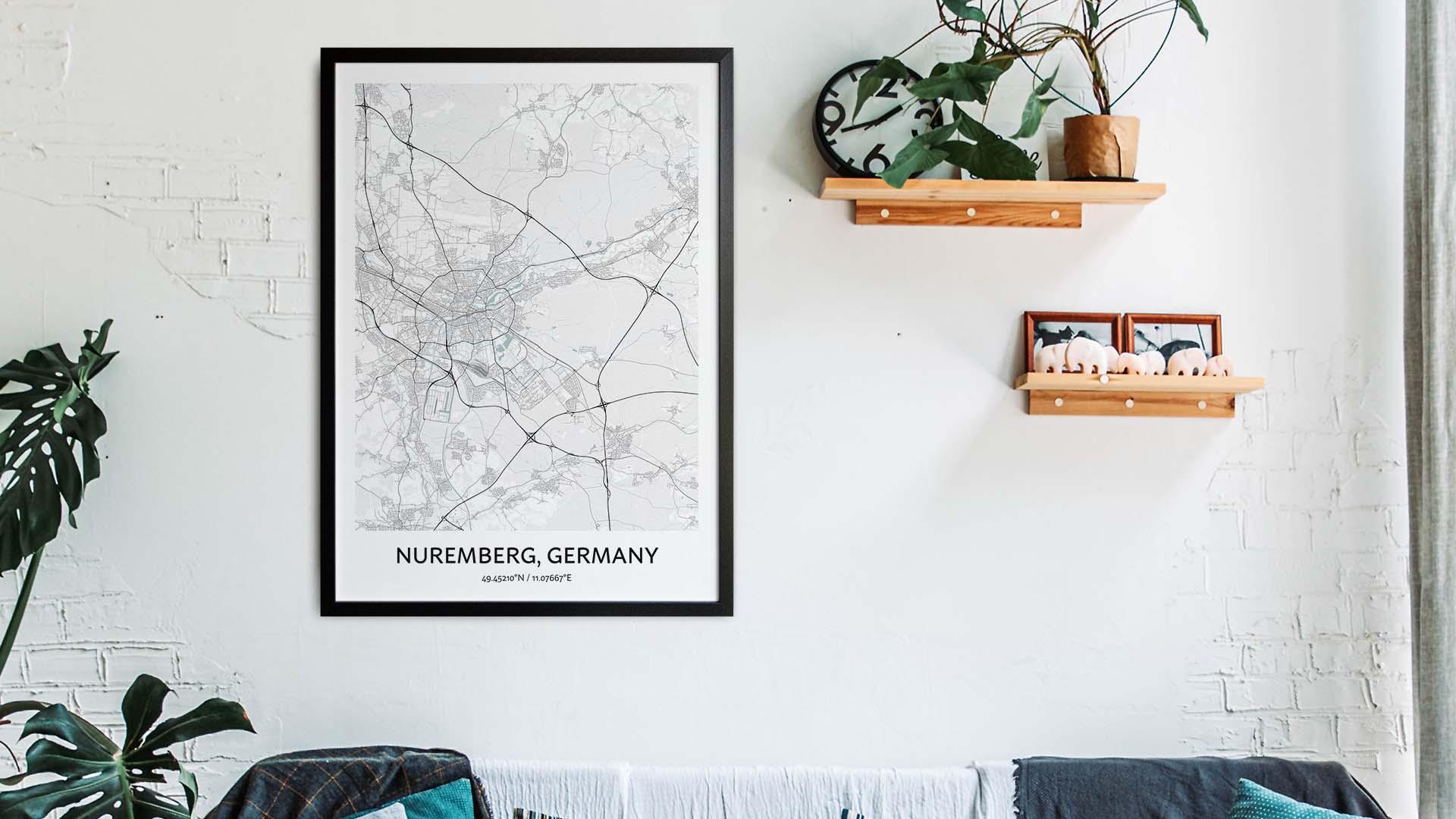 Nuremberg map art