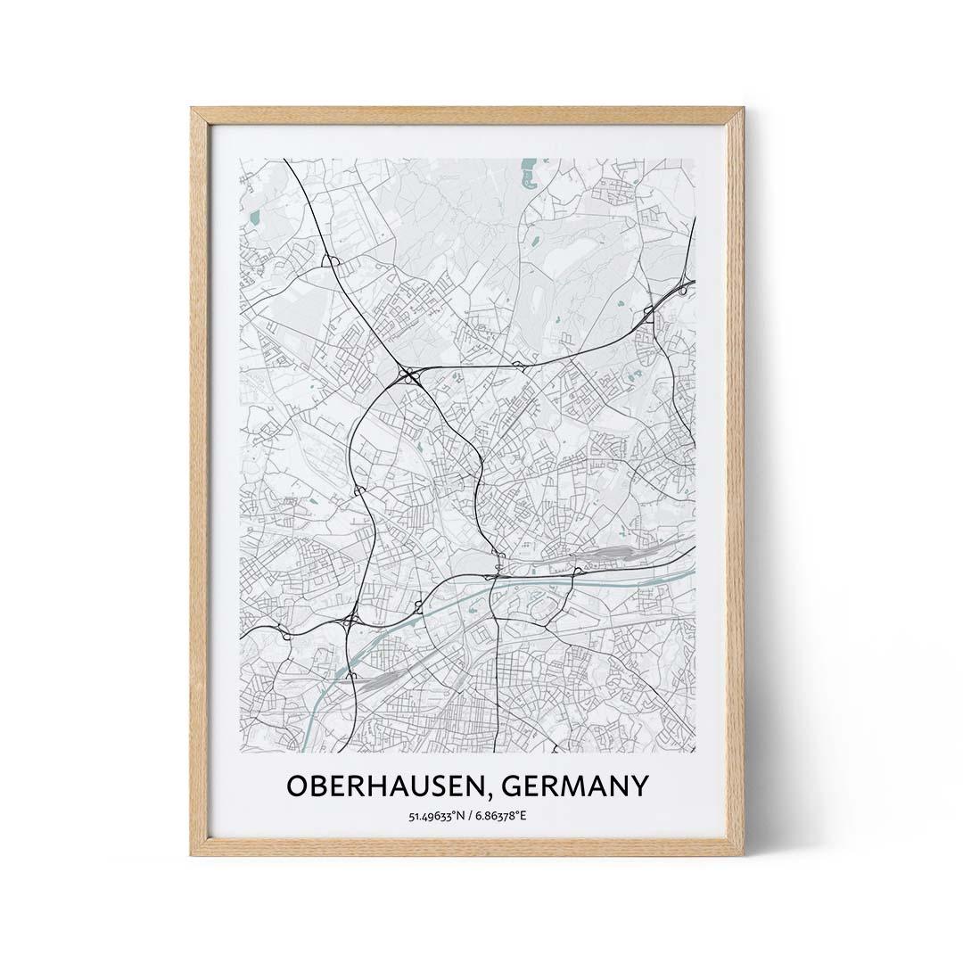 Oberhausen city map poster