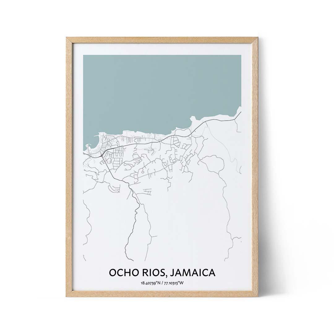 Ocho Rios city map poster