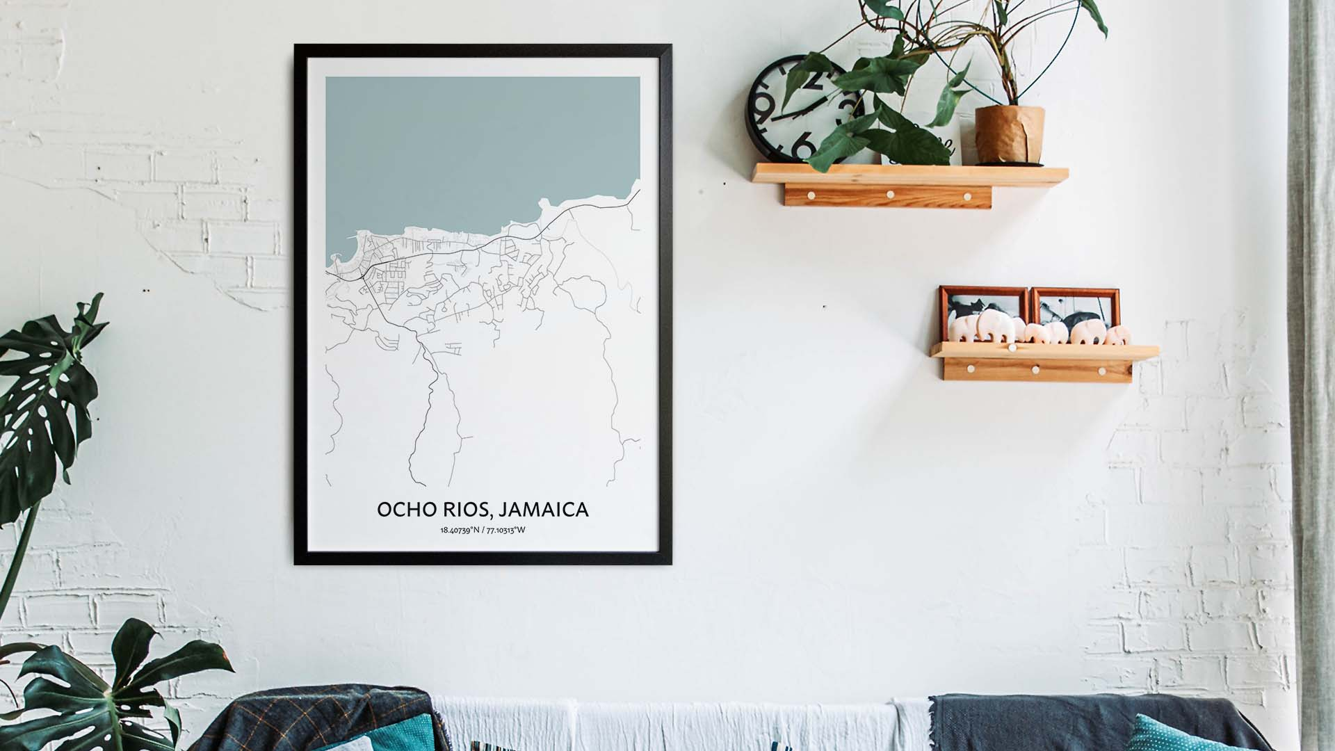Ocho Rios map art