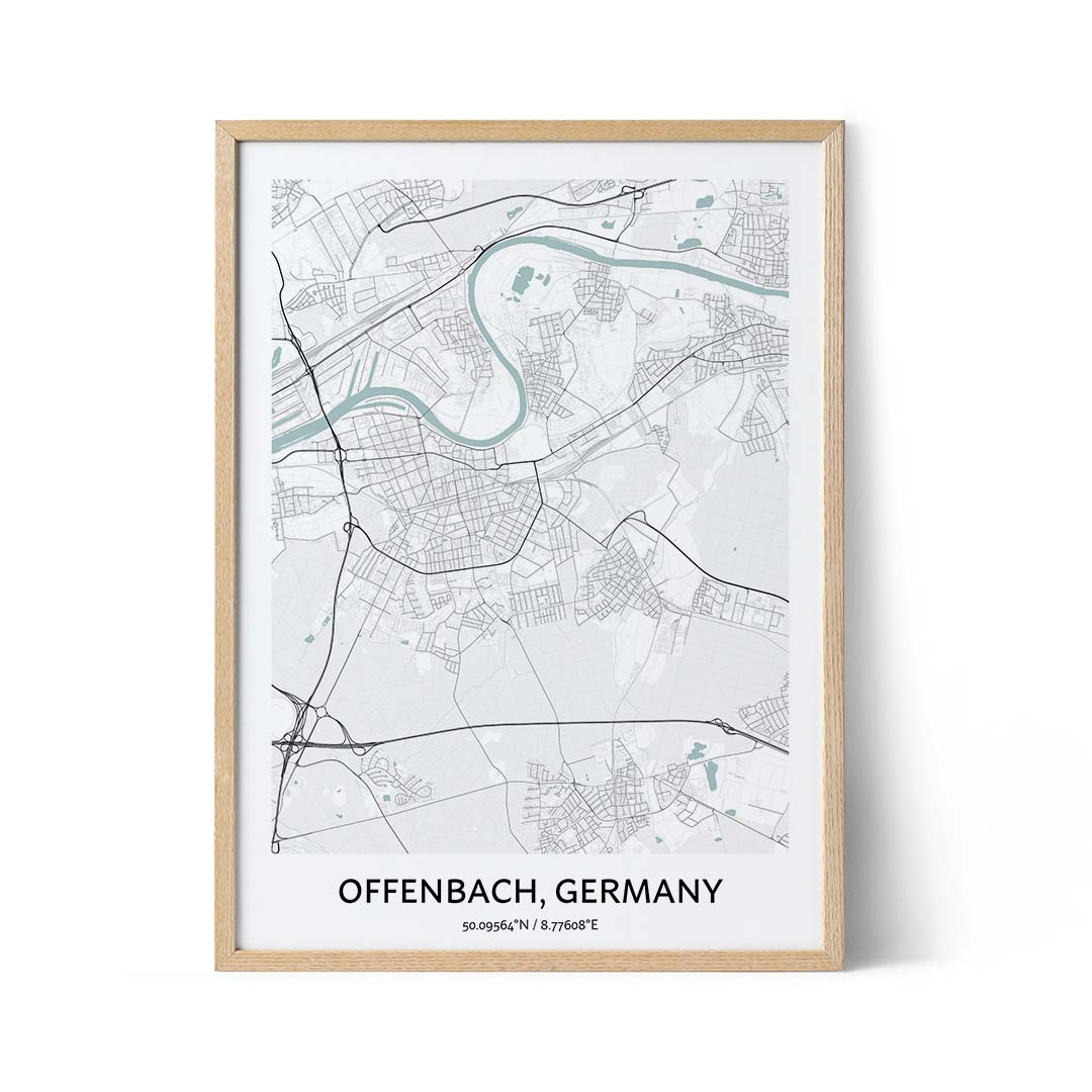 Offenbach city map poster