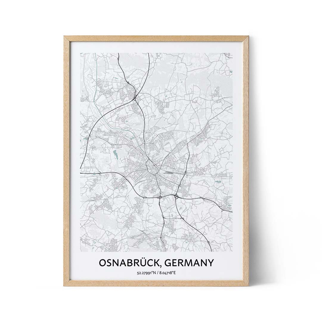 Osnabruck city map poster