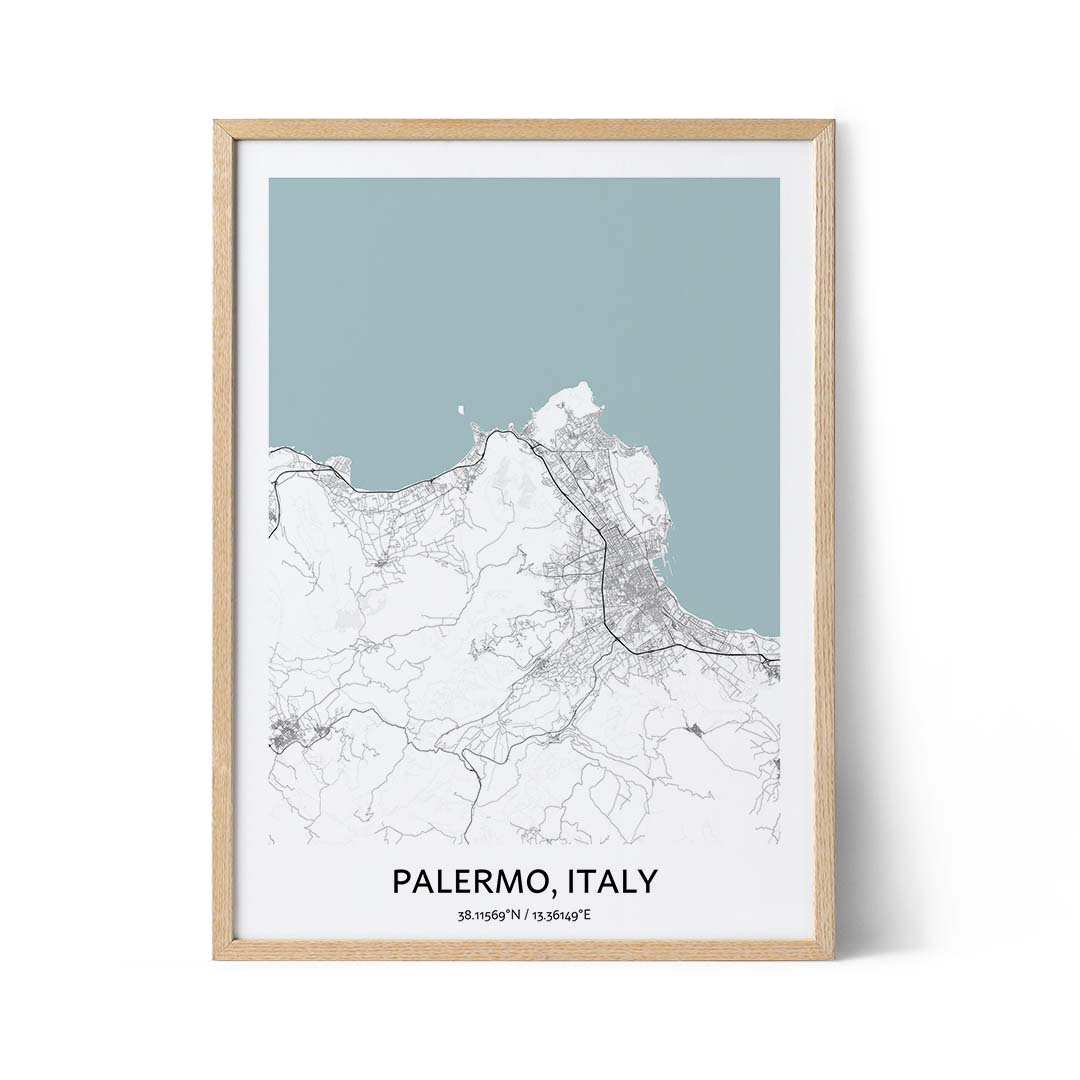 Palermo city map poster