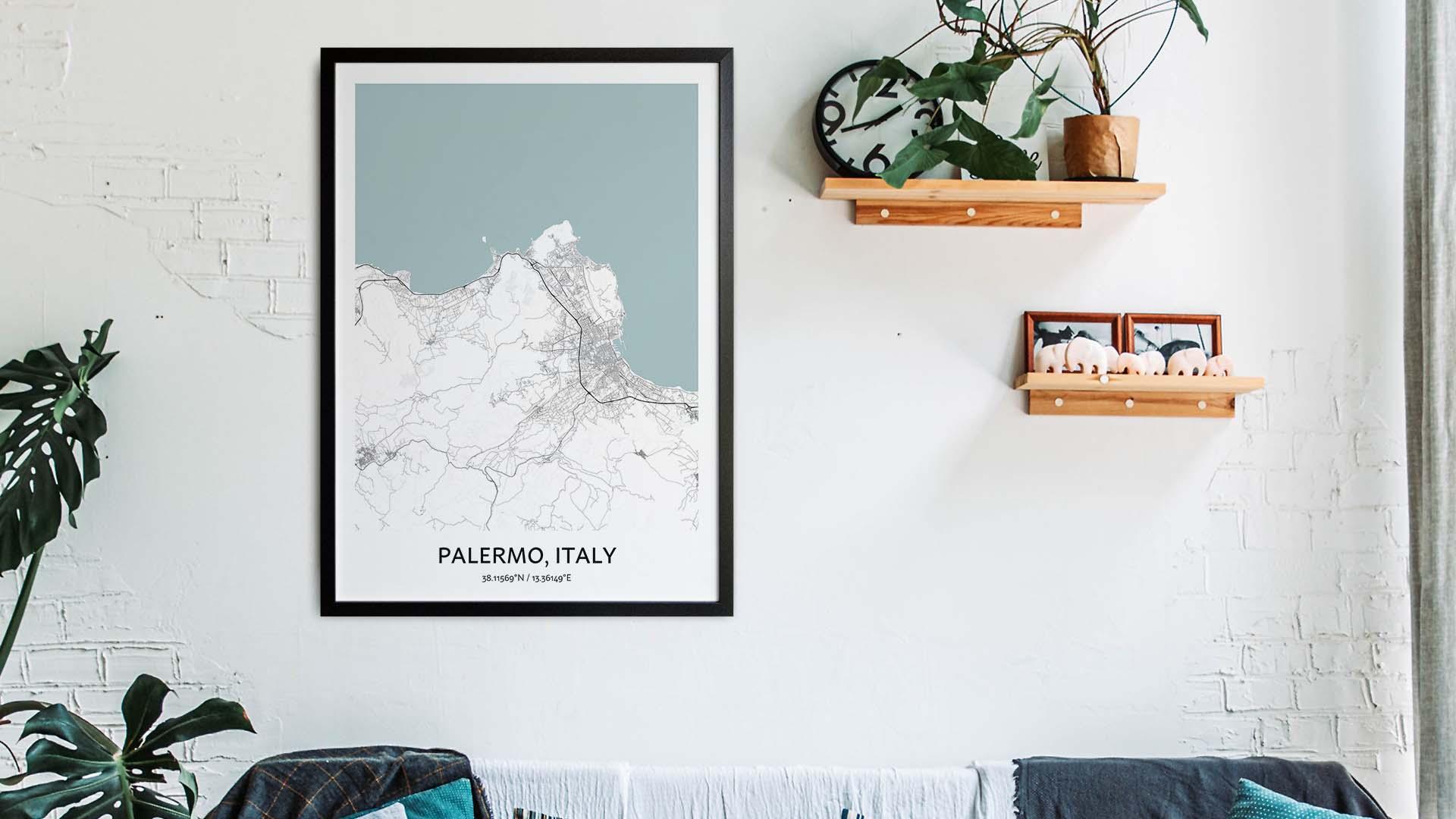 Palermo map art
