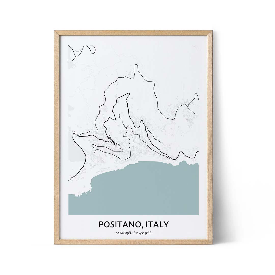 Positano city map poster