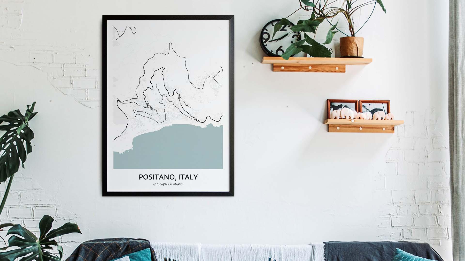 Positano map art