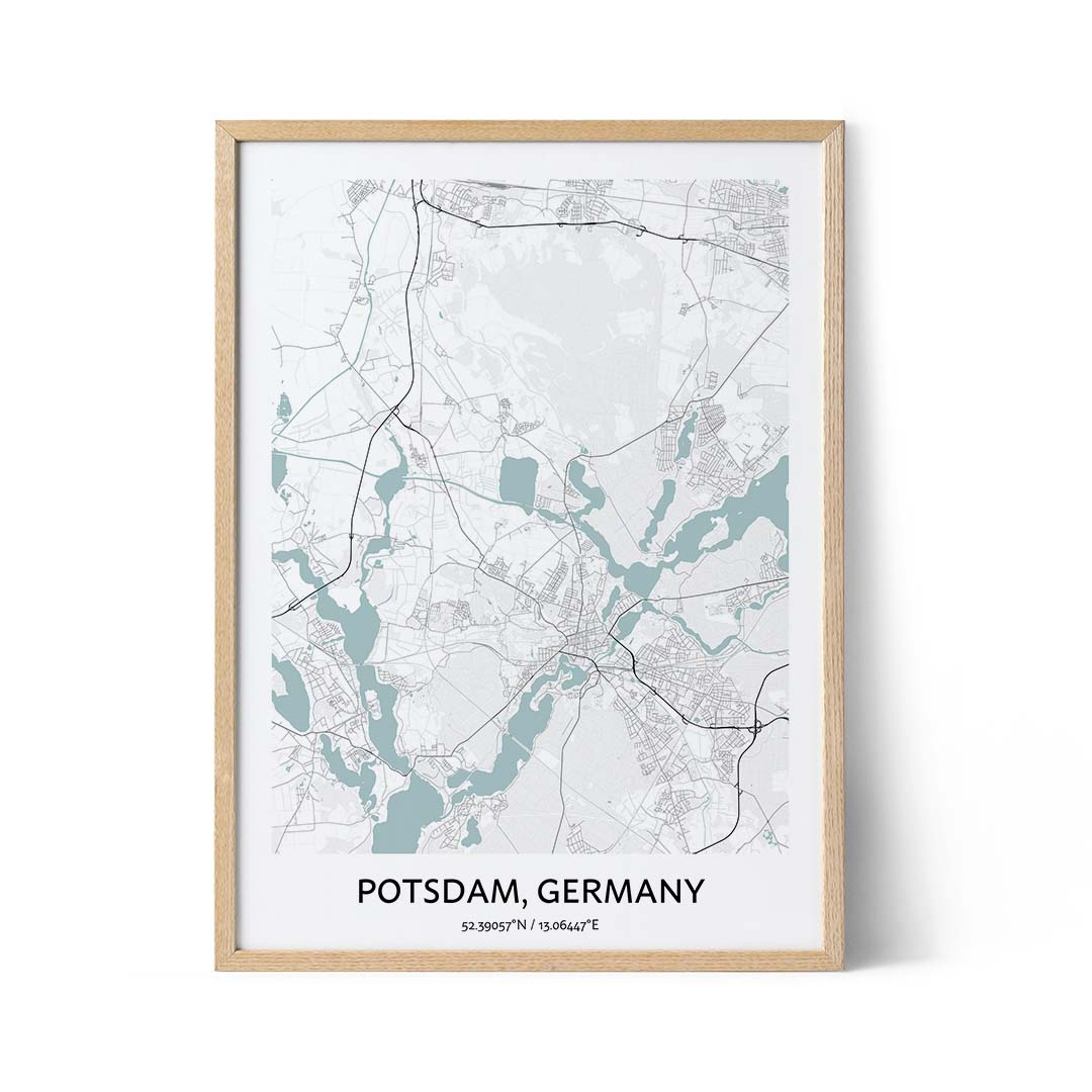 Potsdam city map poster