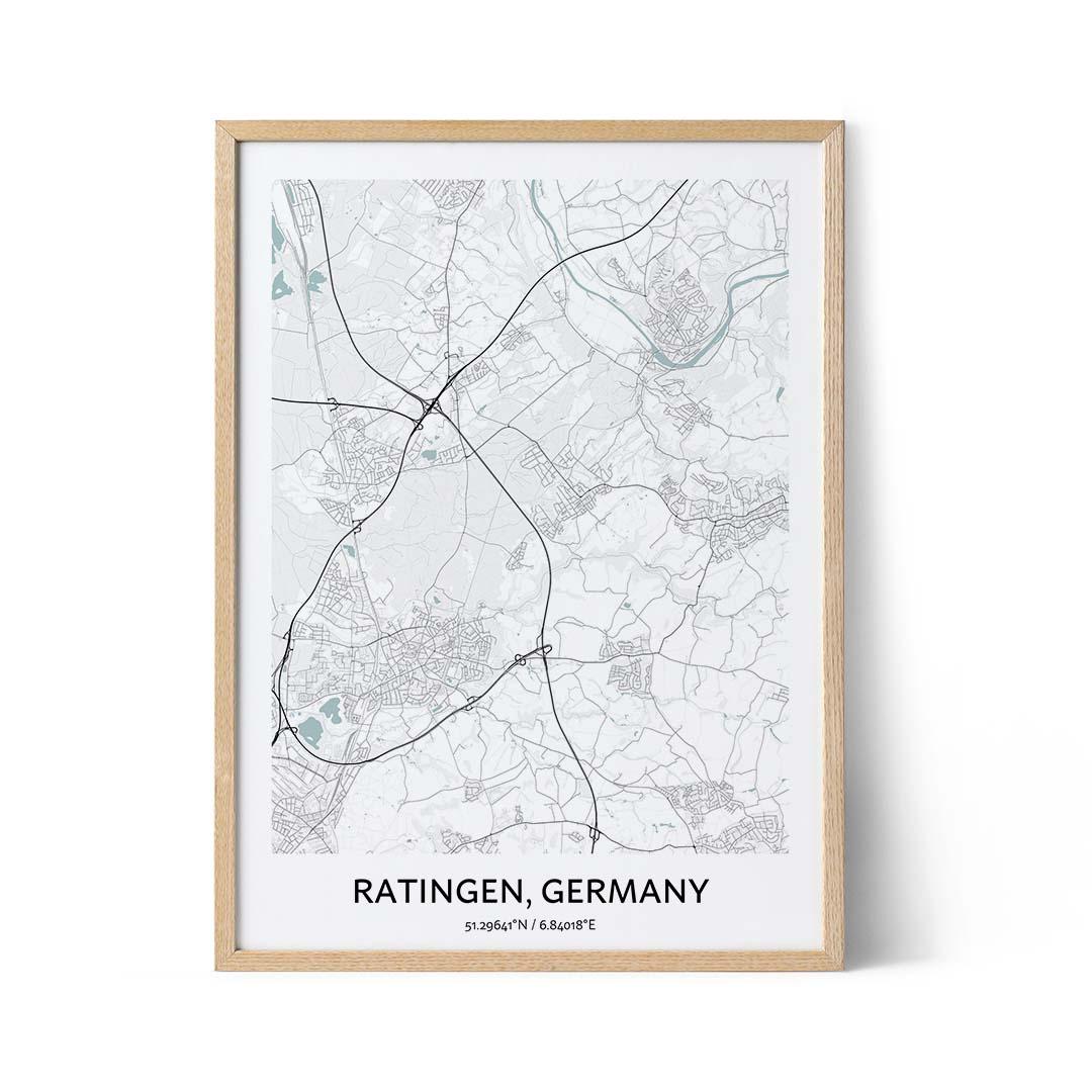 Ratingen city map poster