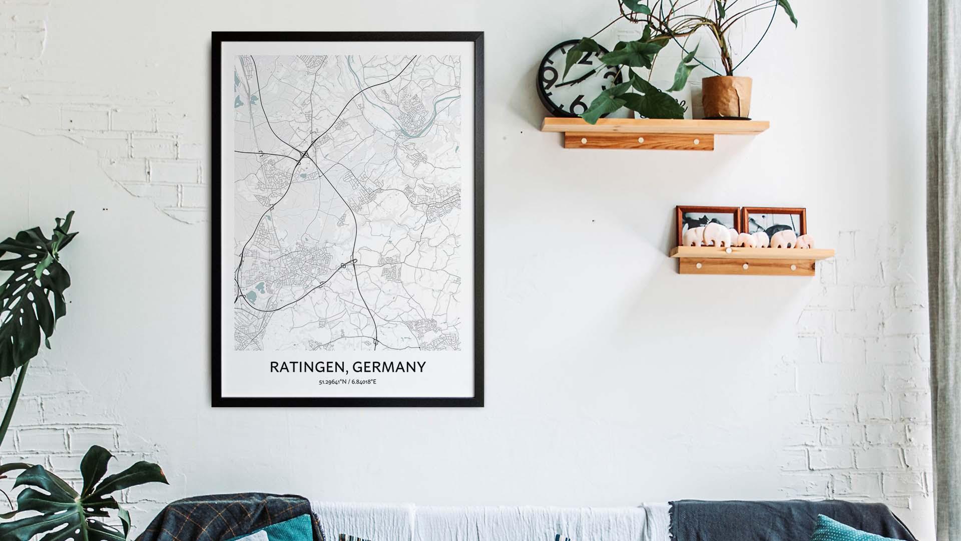 Ratingen map art