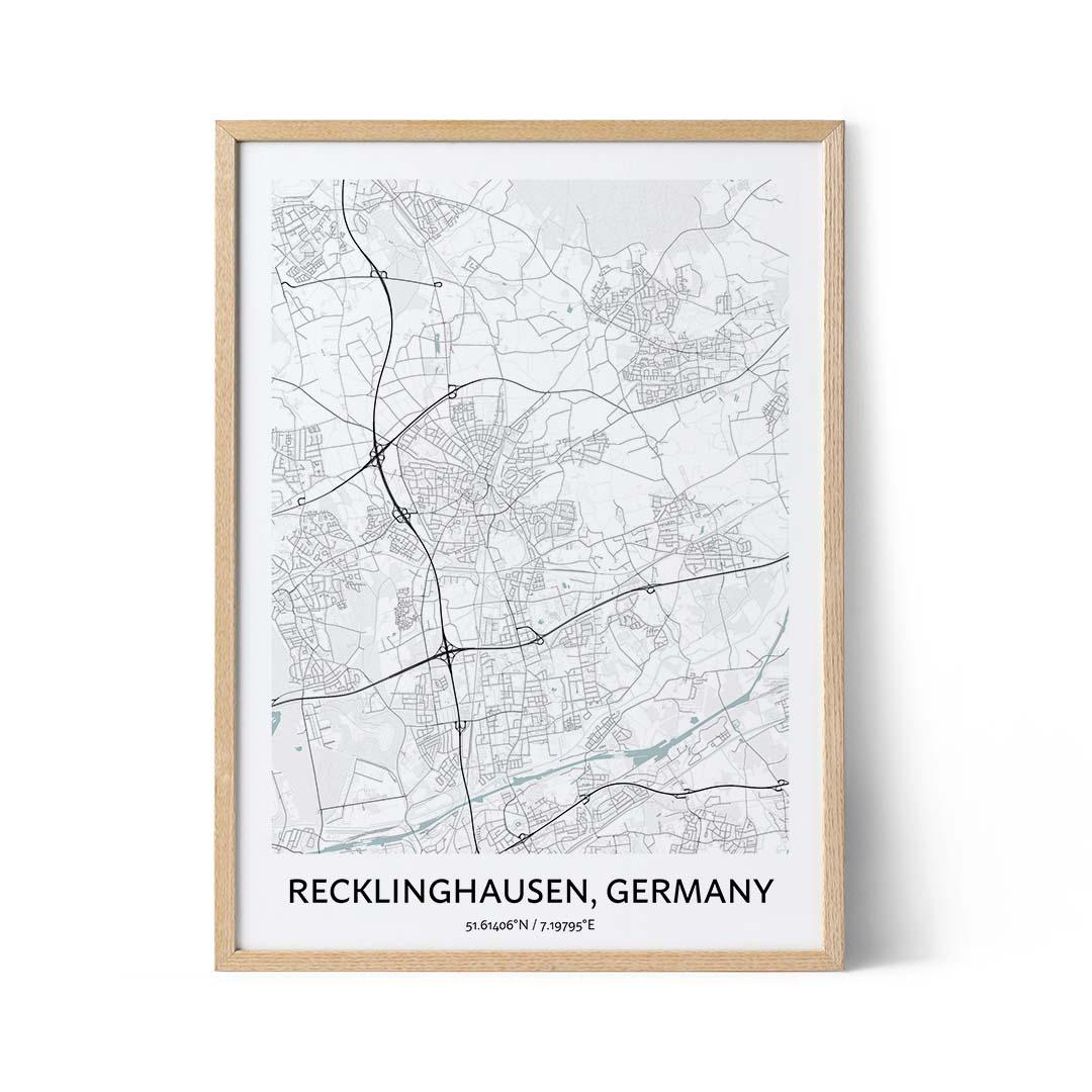 Recklinghausen city map poster