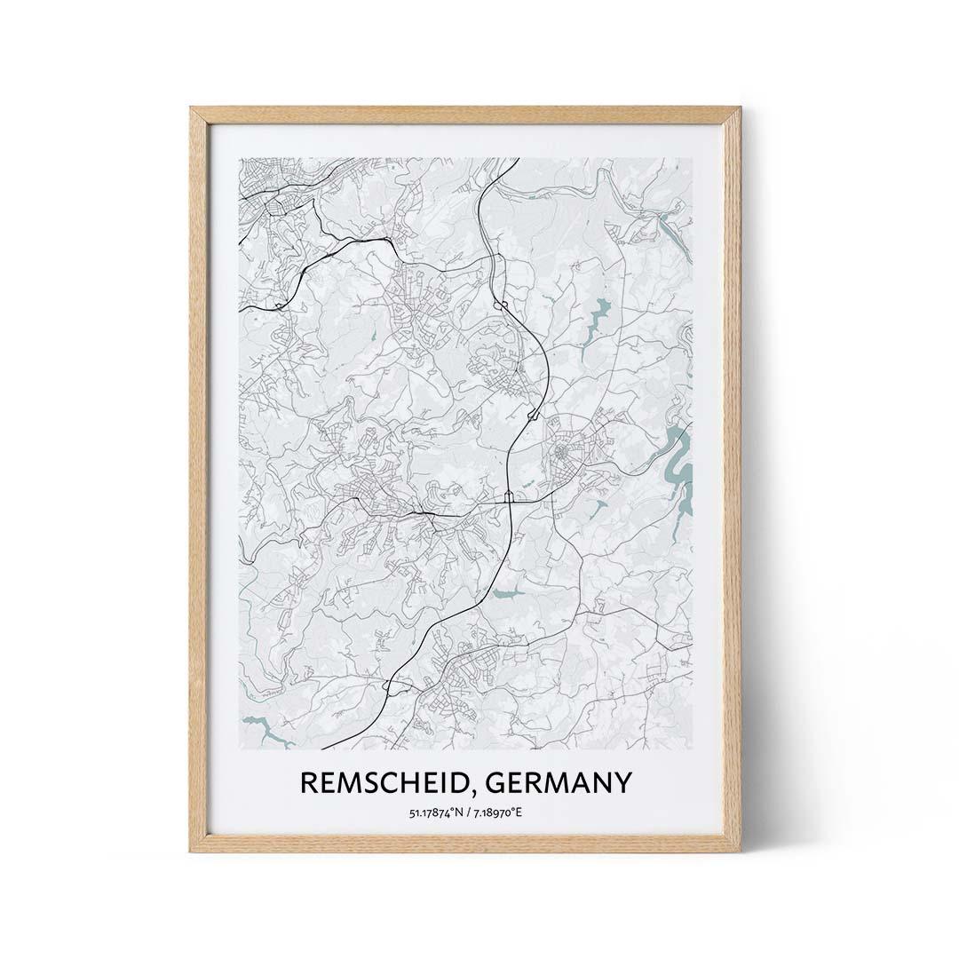 Remscheid city map poster