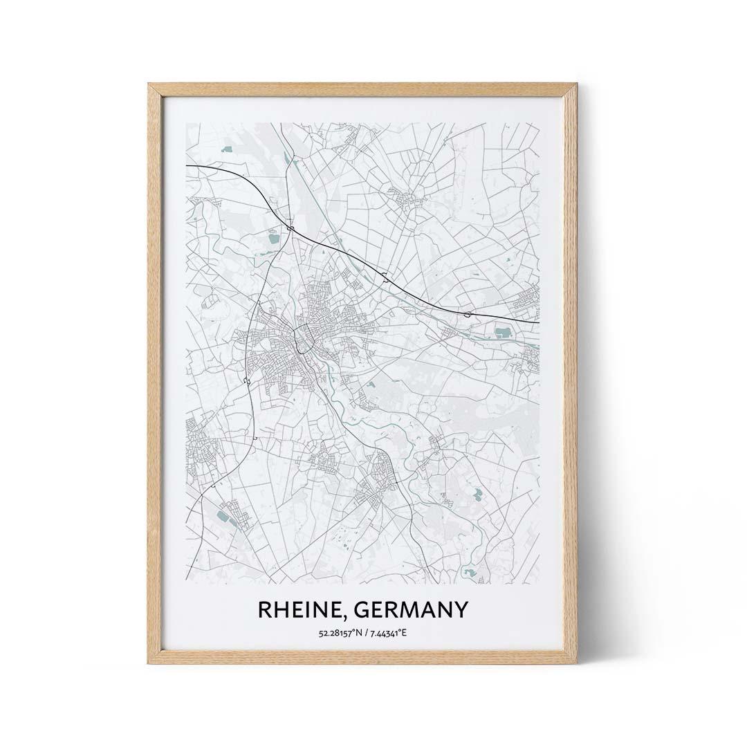 Rheine city map poster