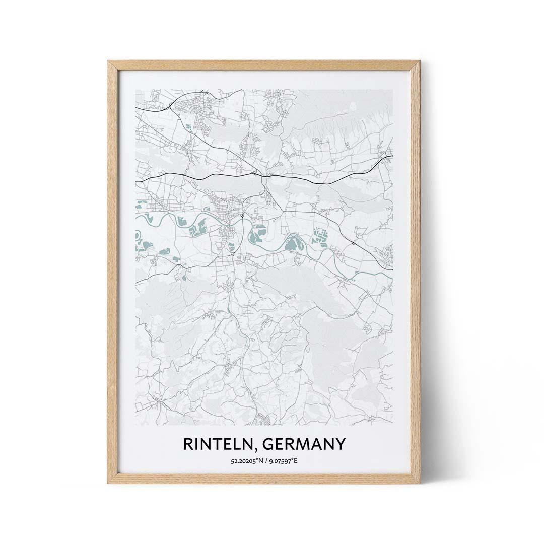 Rinteln city map poster