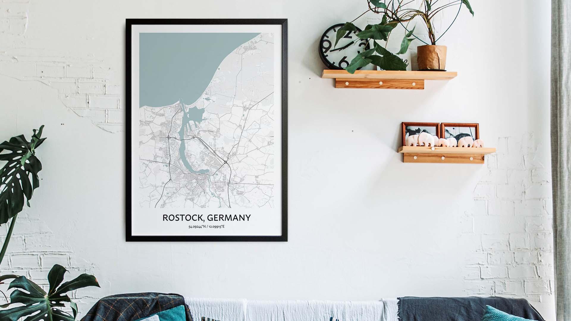 Rostock map art