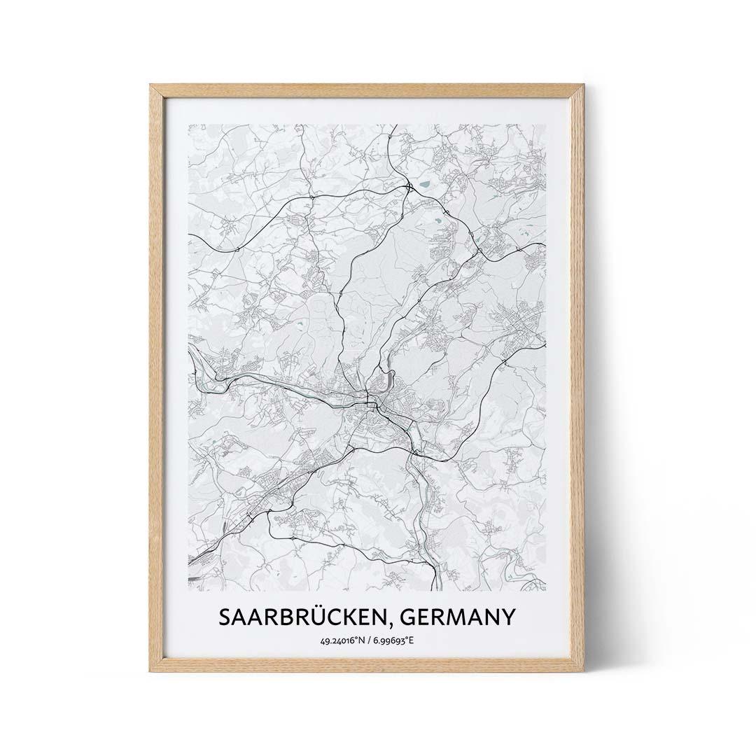 Saarbrucken city map poster