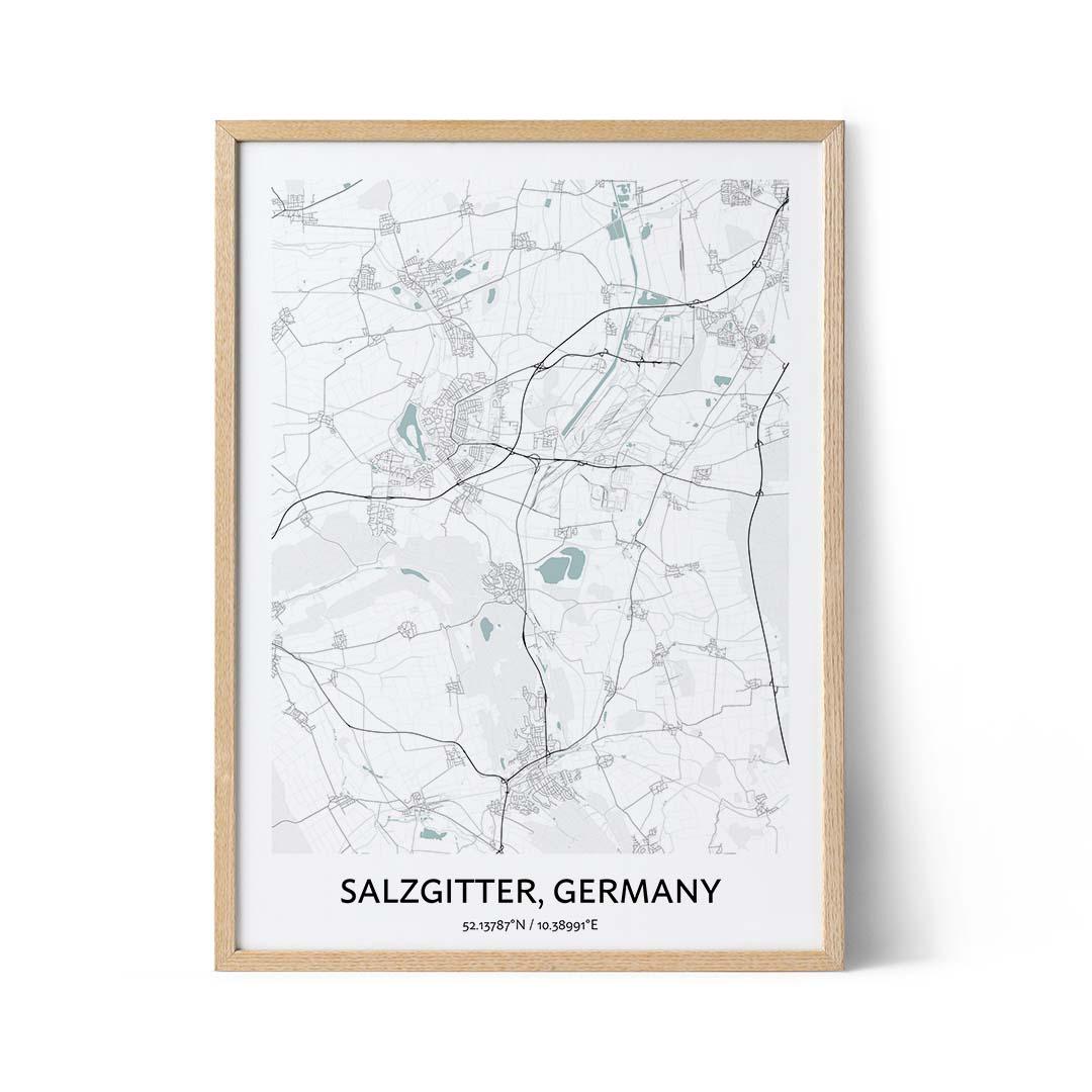 Salzgitter city map poster