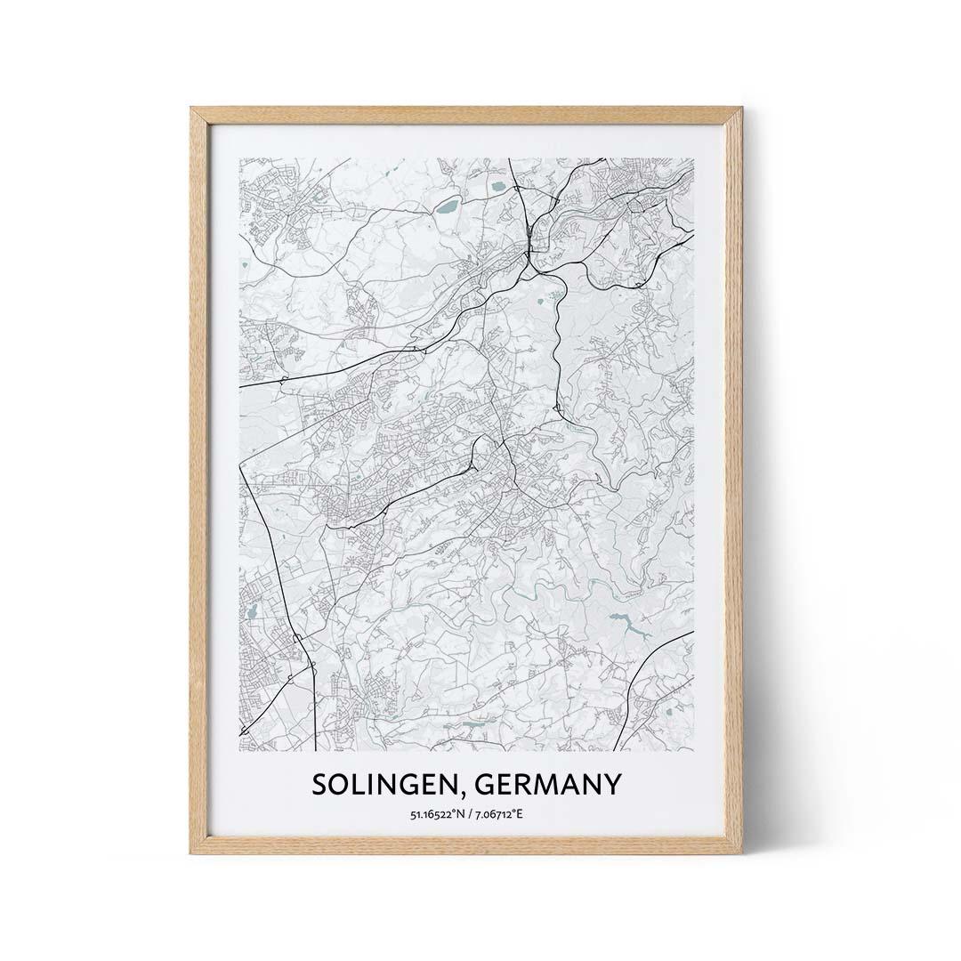 Solingen city map poster