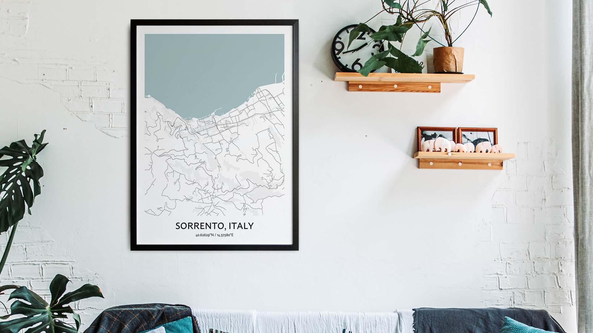 Sorrento map art