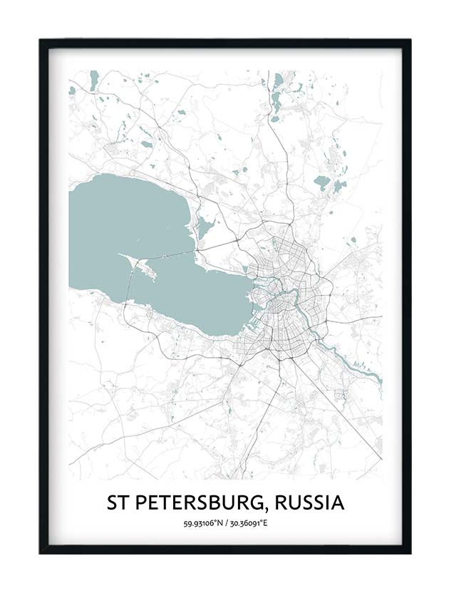 St Petersburg poster
