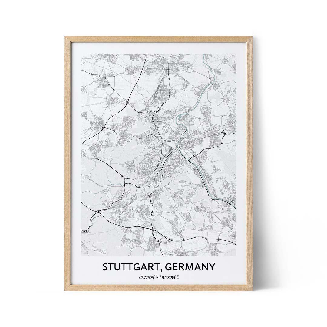 Stuttgart city map poster