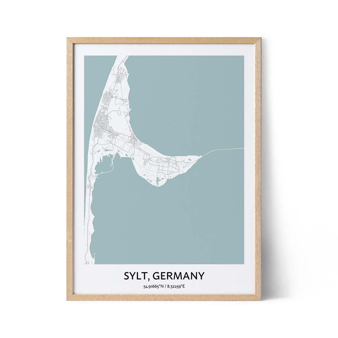 Sylt city map poster