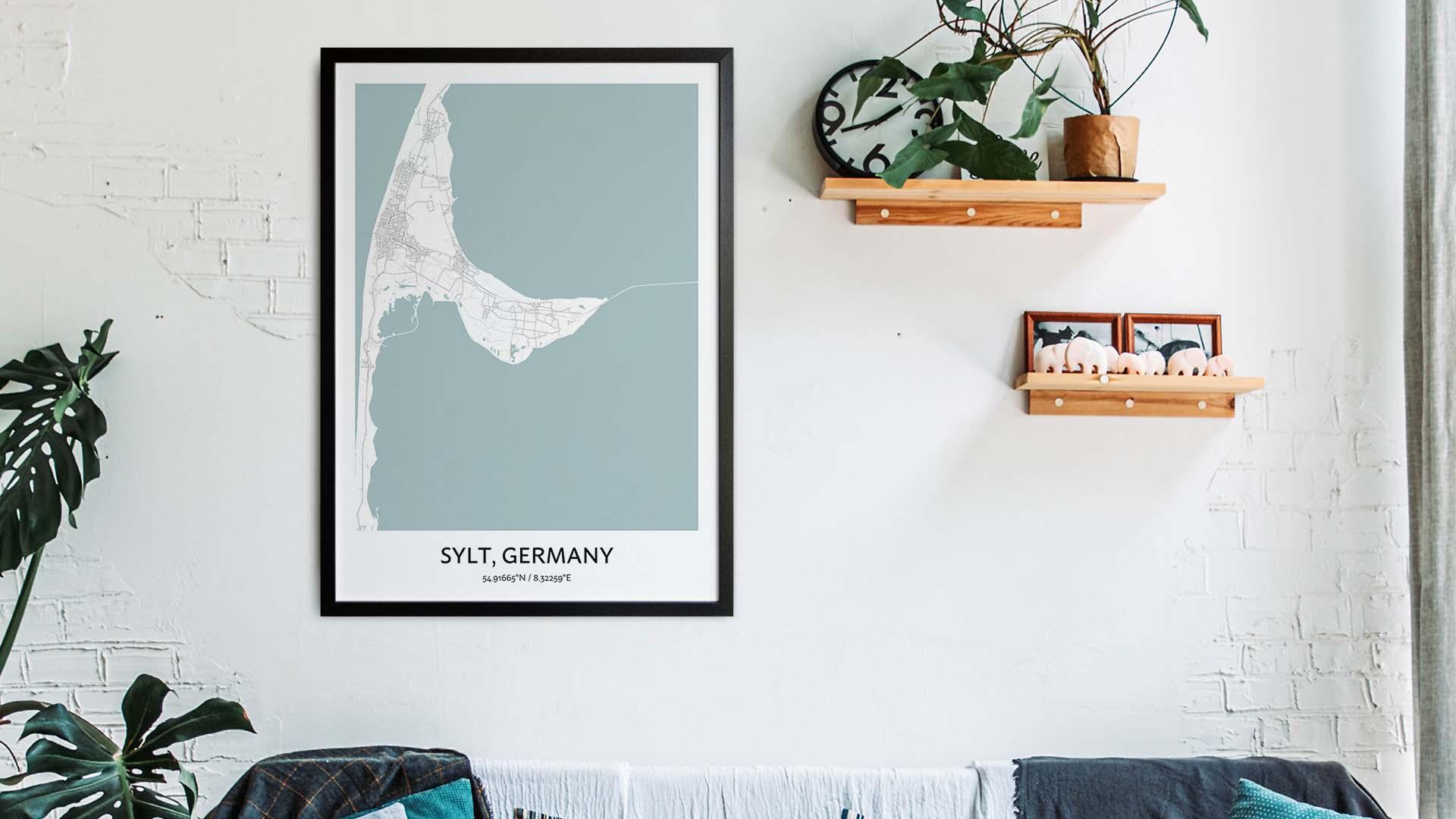 Sylt map art